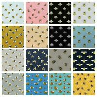 Designer Bumble Bees Theme Poly Linen/Cotton Fabric Crafting Material 🐝 Bee