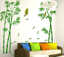 Green Bamboo Birds Wall Art Sticker Quote Wall Stickers Kitchen Wall Home Mural