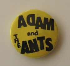 ADAM AND THE ANTS OLD METAL BUTTON BADGE FROM THE 1970's VINTAGE RETRO