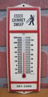 ESSEX CHIMNEY SWEEP Old Advertising Thermometer Sign Made in USA