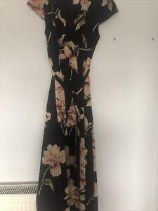 Ax Beatiful Floral Dress Suze 14 Dipped Hem
