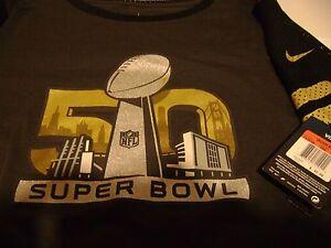 SUPER BOWL 50  JERSEY SHIRT WOMEN  LARGE  NFL NEW  NIKE $42  L@@K