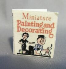 Dollhouse Miniature 1:12 Scale Miniature Painting and Decorating Book
