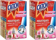 2 Catch Expert Recharge liquide anti Moustiques Tigres Mouches 45 nuits géranium
