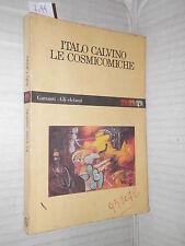 LE COSMICOMICHE Italo Calvino Garzanti 1992 Gli elefanti romanzo libro racconto
