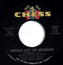 THE RADIANTS Whole Lot Of Woman, Tomorrow CHESS 45RPM 1939 northern soul
