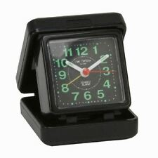 Widdop Quartz Travel Alarm Black Case Dial 5165B