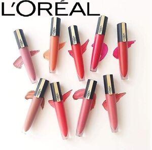 L'OREAL Rouge Signature Matte Liquid Lipstick 7ml - Choose Between 16 New Shades