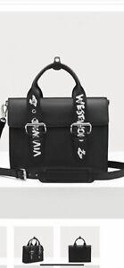 Vivienne Westwood , Alexander document grained leather satchel