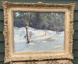Listed Farquhar McGILLVRAY KNOWLES- 19x23 Winter Woods OIL - Great Frame c. 1915