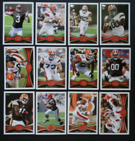 2012 Topps Cleveland Browns Team Set of 12 Football Cards