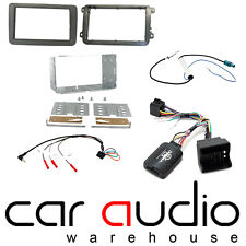 Car Stereo D/Din Fascia & Steering Wheel Interface Kit fit VW Golf Mk6 08-12