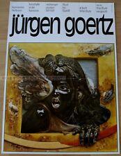 GERMAN EXHIBITION serigraph 1981 - JÜRGEN GOERTZ - DRAWINGS SCULPTURES 1971-1981