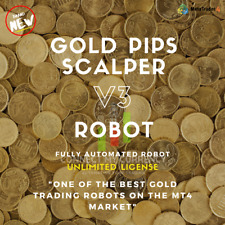 GOLD PIPS V3 EA UNLIMITED Fully Automated MT4 Robot / Trading System / Strategy