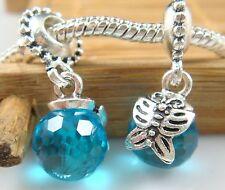 hot European Silver CZ Charm Beads Fit sterling 925 Necklace Bracelet Chain pt43