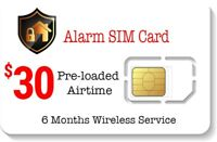 $30 Prepaid Alarm SIM Card for GSM Home Security Alarm System + GPS Tracker
