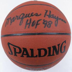 Marques Haynes Globetrotters Autographed Signed HOF 98 Spalding NBA Basketball