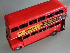 Giocattolo Metallo Antico Autobus a Imperiale Londra Routemaster L 18 cm Anni 50