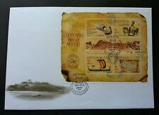 Lithuania 1000th Anniversary 2002 History Antique Sail Boat (miniature FDC)