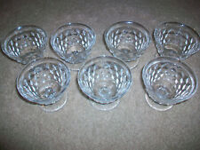 "Set of 7 American Fostoria Sherbet Ice Cup Sundae Cups 3"" tall"