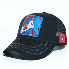 Sonic the Hedgehog Black Gamer Baseball Cap open back - Junior with clasp