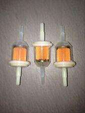 THREE(3) Small Engine GKI VW312 6mm-8mm 1/4 Plastic Inline Gas/Fuel Filter LOT