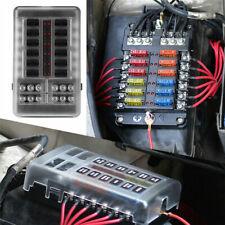 12 Way Blade Fuse Box Block Holder LED Indicator Auto Marine 12V 32V Waterproof