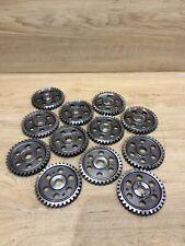 Industrial Machine Age Steel Lot 12 Gears/Cogs Steampunk Art Parts Lamp Base