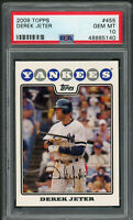 Derek Jeter New York Yankees MLB 2008 Topps Baseball Card #455 Graded PSA 10