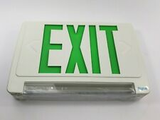 Beghelli Exit Light One - Sided W/Green Face BRZLG1W Voltage 120/277 New In Box