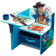 Disney Pixar Chair Desk Toy Story 4 Storage Bin Cup Holder Wood Kid Study Gift