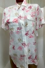 Equipment Shirt Nature White Multi Floral Silk Shortsleeved   NWT $218 Size XS