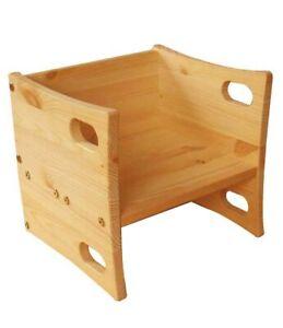 Wendehocker Würfelhocker Holz massiv, stabil, 3 Höhen, direkt vom Hersteller