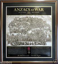 THE SPIRIT OF ANZAC GALLIPOLI ANZACS AT WAR VICTORIA CROSS LTD EDITION FRAMED