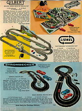 1967 ADVERT Gilbert James Bond 007 Lionel Strombecker Race Car Raceway Toy Sets