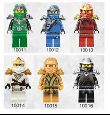 6 PC Ninjago MINI FIGURE Cole Jay KAI Zane Nya LLOYD accoppiamenti LEGO 10011-6