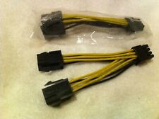 nVidia DUAL 6 PIN to 8 PIN PCI E GRAPHIC CARD POWER CABLE, ORIGINAL  PART