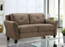 NEW! Loveseat 2 Seater Couch Sofa, Fabric, Living Room Furniture, Brown