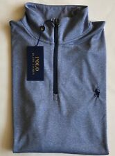 $90 NWT Mens Polo Ralph Lauren Performance Wicking 1/2 Zip Pullover LS Shirt M