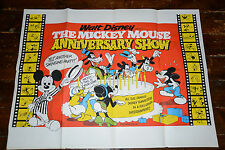 MICKEY MOUSE ANNIVERSARY SHOW !968 Vintage WALT DISNEY Cinema Quad Poster