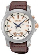 Seiko Snq-150p1 Premier reloj caballero acero 100m Perpetual Calendar