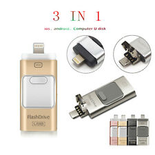 i Flash Drive USB Memory Stick HD U Disk 3 in 1 for Android/IOS iPhone PC 512GB