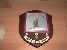 216 Para Signals Squadron Veteran Wall Plaque with name, rank and number