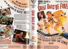 GREAT BALLS OF FIRE! - Quaid - VHS -PAL -NEW -Never played! -Original Oz release
