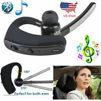 Wireless Bluetooth Headset HD Handsfree Headphone For Samsung iPhone LG Motorola