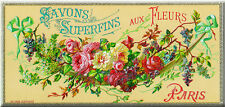 French Advertising Flowers Soap Sign - Chambre Bedroom