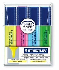Staedtler Highlighter Pens Textsurfer Classic Wallet of 4 Assorted Colours