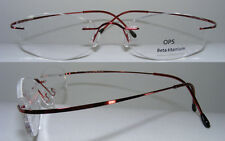Beta Titanium Glasses Frames Rimless Light Flexible Solid, with / without hinges