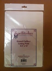 """NEW Spellbinders GC-005 Grand Calibur Cutting Plate 'C' A4 Sized 8.5"""" x 12"""""""