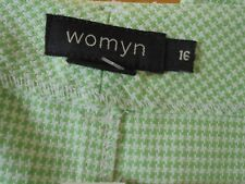 "WOMYN Size 16P Jeans Pants NEW w/Tag Inseam 27""L Made USA $165 green & white"